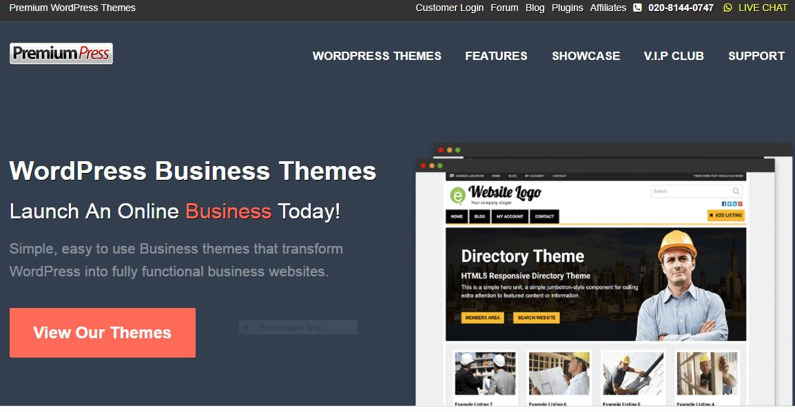 Premium Press theme site